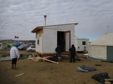 small living structures built on site